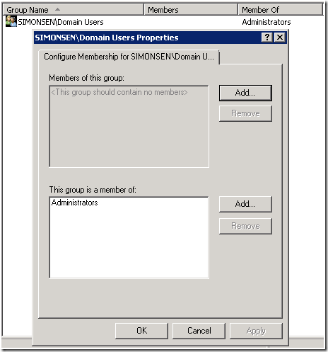 Working with Group Policy Restricted Groups policies