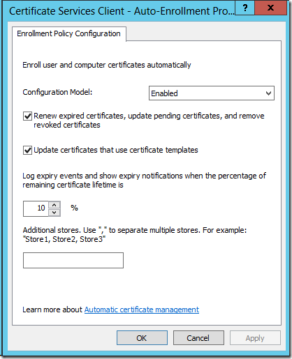 Active Directory Domain Controllers and certificate auto ...